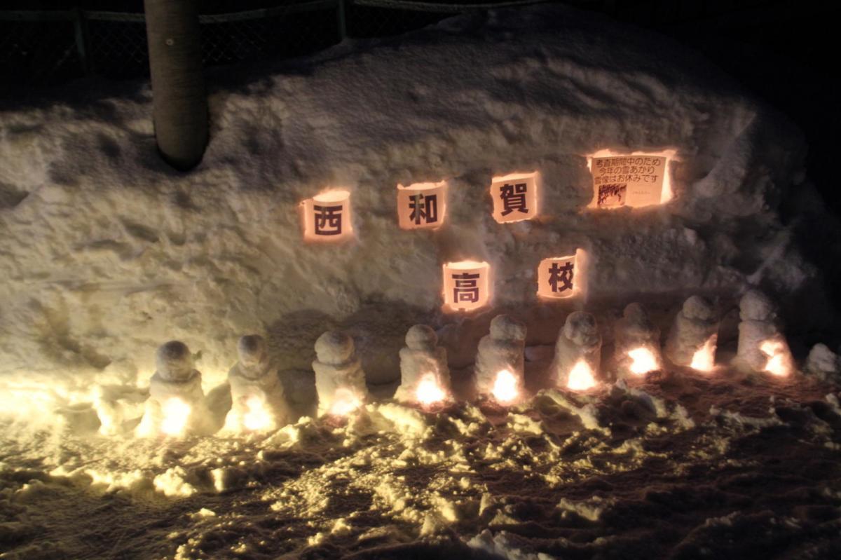 北上市雪あかり 2017 2017/02/11